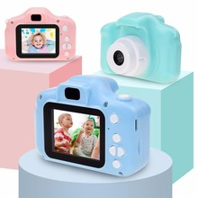 Mini Cartoon Photo Camera Toys 2 Inch HD Screen Childrens Digital Camera Video Recorder