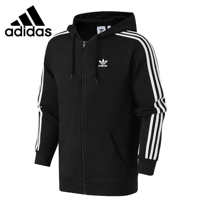 Haciendo Vaca Previamente  Novedad! Chaqueta deportiva con capucha para Hombre Adidas Originals de 3  rayas FZ|Chaquetas para running| - AliExpress