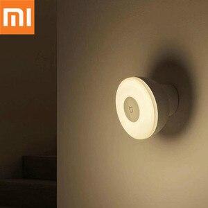 Image 1 - Oryginalny Xiaomi Mijia LED korytarz lampka nocna pilot na podczerwień czujnik ruchu ciała lampa Smar noc w domu