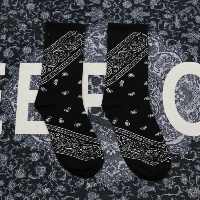 Men And Women Cotton Socks Rap Rap Hip Hop West Coast Cashew Flower Casual Socks Couple Funny Socks Sports Sock