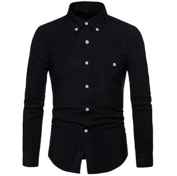 2020 HOT Men's plus velvet warm shirt youth slim shirt maa1 male thick business plus size shirt KK777-01-09