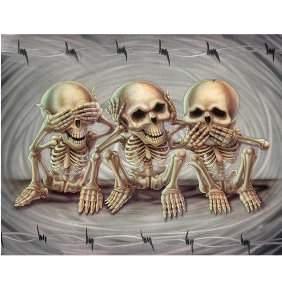 5D FAI DA TE Pittura Diamante Del Cranio Icona Punto Croce Diamante Ricamo Mosaico di Arte Immagine di Strass Regalo di Halloween Complementi Arredo Casa