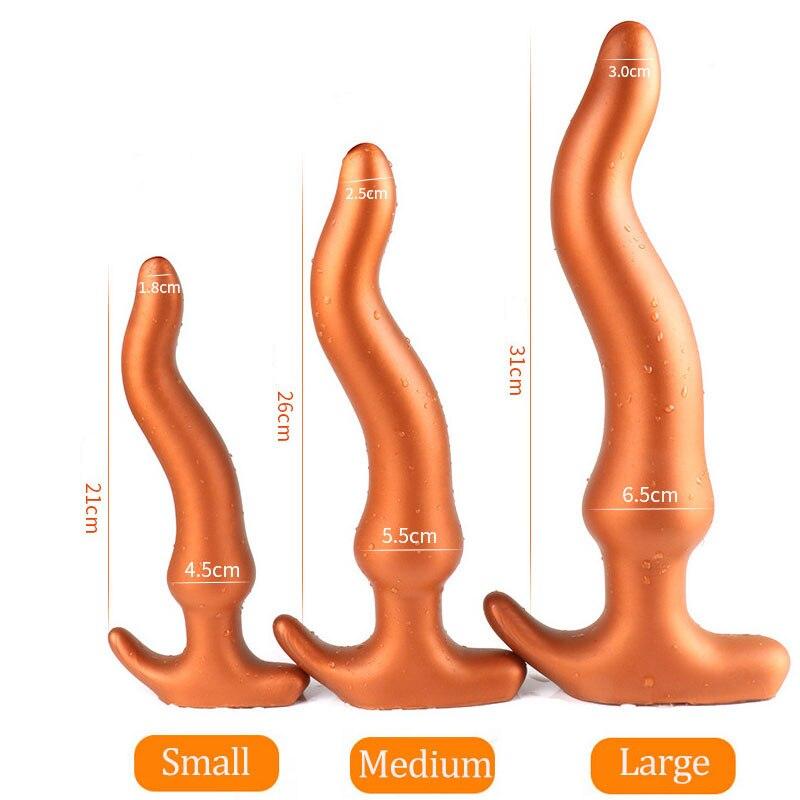 Huge Soft Silicone Butt Plug Anal Dildo Prostate Massager SM Gay Anal Plug Adult Set Toys Anal For Women Anus Dilator Vagina Sex
