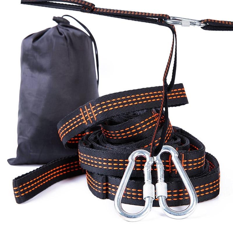 YINGTOUMAN 3m sangle extérieure en Nylon hamac sangle Camping hamac corde porteuse élingue arbre extérieur suspendus accessoires de tente