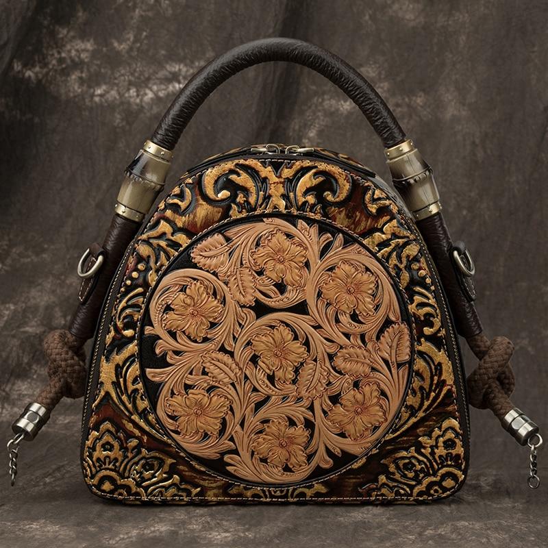 Vintage Luxury Women Genuine Leather Handbags Ladies Luxury Handbags Women Bags Designer Crossbody Bags For Women Tote Bags