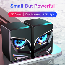 USB Wired Computer Speakers LED Bass Sound Box Speaker For PC Laptop Powerful Subwoofer Multimedia Loudspeakers Not Soundbar
