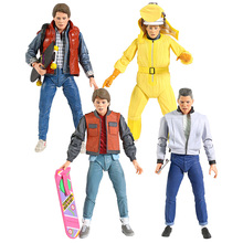Action-Figure NECA Back-To-The-Future Scale Collectible Model 7-Marty Mcfly Doc Brown