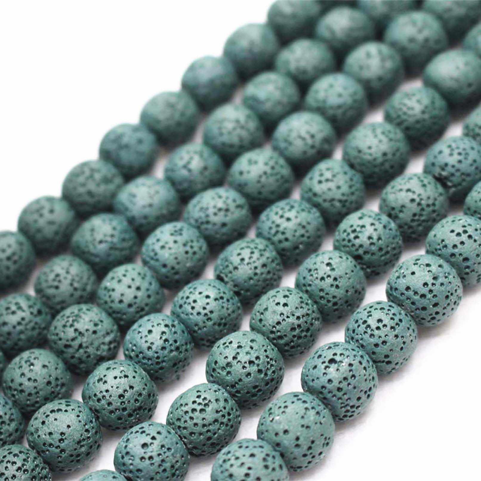 Wholesale Natural Lava Loose Beads,4mm 6mm 8mm 10mm 12mm 14mm 16mm Volcanic Rock Lava Round Beads.DIY Jewelry Making Beads