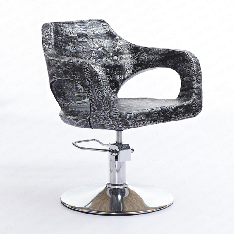 30%1B Hair Salon Dedicated Hairdressing Salon Chair Fashion Haircut Chair Beauty Stool Hydraulic Rotary Barbershop Chair