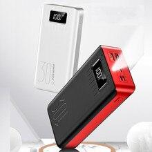 18650 Внешний аккумулятор 30000 мАч Внешний аккумулятор 2 USB QC Быстрая Зарядка Внешний аккумулятор светодиодный дисплей портативное зарядное устройство для телефона для Xiaomi