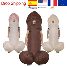 Inflatable-Costumes Jumpsuit Dress Disfraz Paty Dick Funny Penis Anime Halloween Sexy