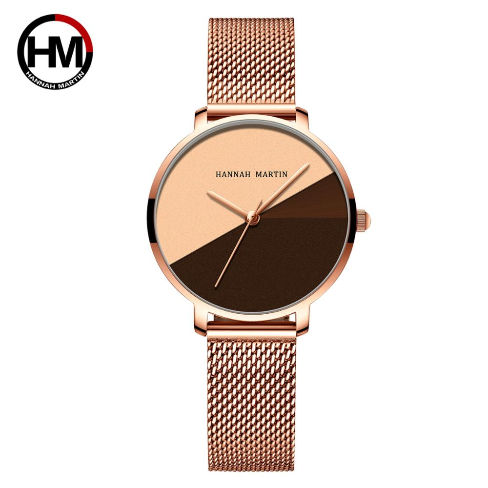 Dropshipping A++++ Quality Japan Quartz Movement Stainless Steel Mesh Band Wrist Watch Vintage Women Waterproof Ladies Watches