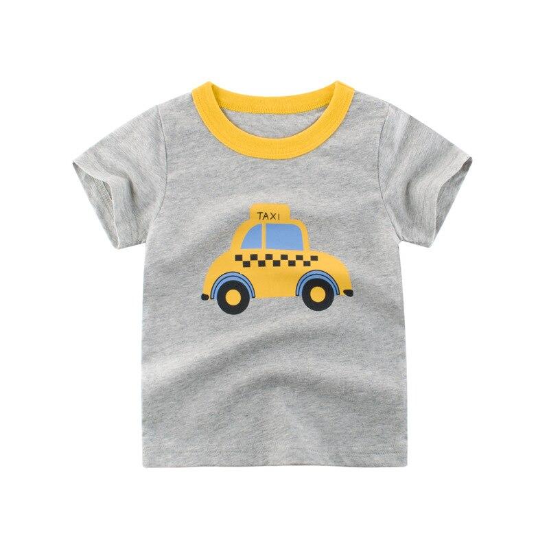 Loozykit/Летняя детская футболка для мальчиков футболки с короткими рукавами и принтом короны для маленьких девочек хлопковая детская футболка футболки с круглым вырезом, одежда для мальчиков - Цвет: S222-7
