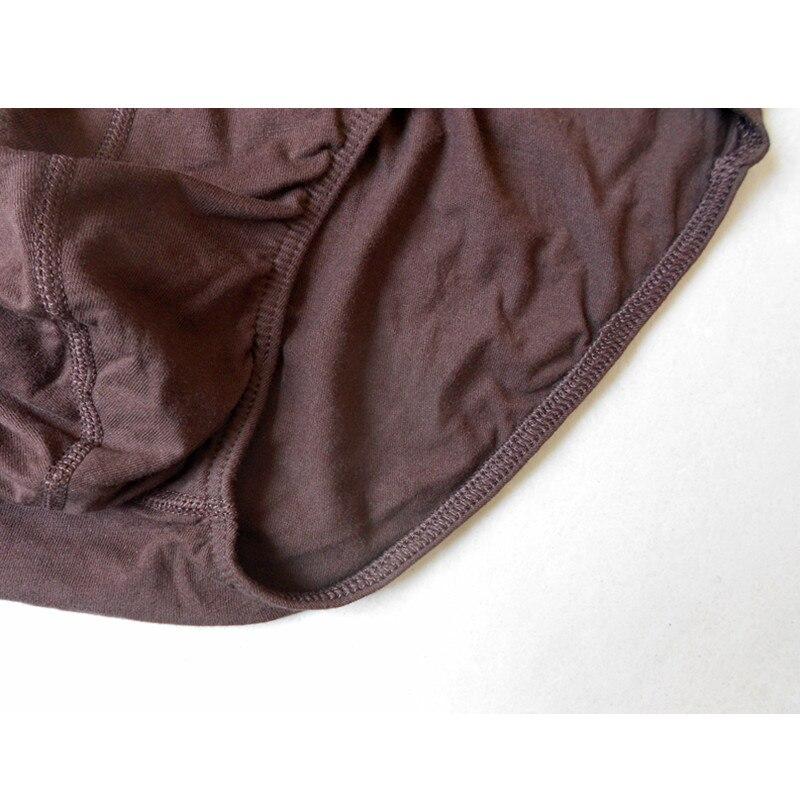 Image 5 - Briefs Men 4 pieces/lot Sexy Underwear 100% Cotton Plus Size Male Panties Shorts Grey blue brown black Brand BUDDLEJABriefs   -