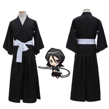 Anime Cosplay Kostuum Bleach Kurosaki Iichigo Robe Dress Gratis Verzending Japanse Anime Cosplay Halloween Party Make Kostuum(China)