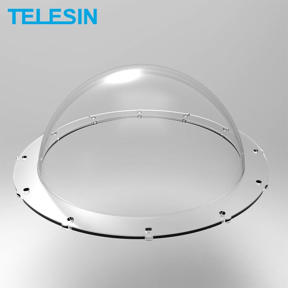 TELESIN 6 дюймов купольный порт Прозрачная крышка Замена для GoPro Hero 5 6 7 Hero 4 3 + 3 Xiaomi Yi 4K 4K + DJI Osmo Action