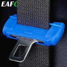 Cinturón de seguridad de coche Universal, Protector de hebilla de silicona antiarañazos, hebilla para cinturón de seguridad, Clip, funda de botón Interior, cubierta antiarañazos