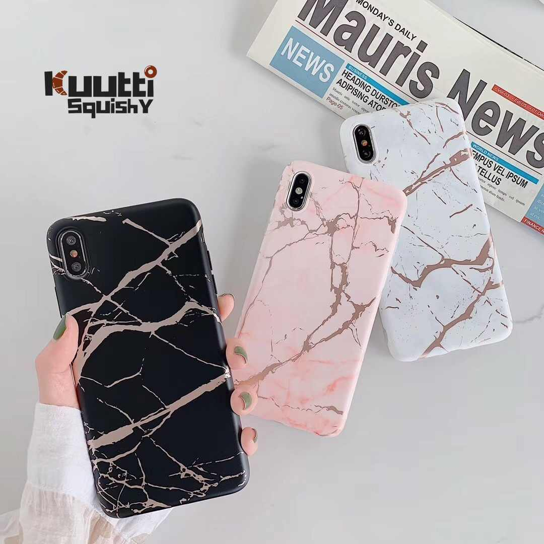 Kuutti Luxury Black White Pink Marble Women Silicone Phone Case For Iphone 6 6s 7 8 Plus X Xr Xs Max Covers For Iphone 7 Case Fitted Cases Aliexpress