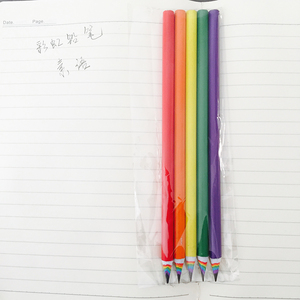 Image 5 - 50pcs New Colorful Rainbow Pencil Drawing Pencil For School Office Creative Stationery Paper Pencils Kids Gift Set Wholesale