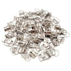 Image 2 - 60 sztuk klucz pierścień sprzętu brelok bransoletka elementy konstrukcyjne z smycz pierścień, brelok do kluczy sprzętu i podział pierścień dodatki
