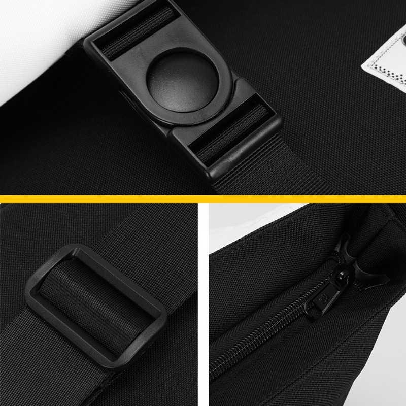 Men Shoulder Satchel Bags 28.5x23cm Simple Oxford Travel Crossbody Bag For 9.7″ Ipad Women School Messenger Bag