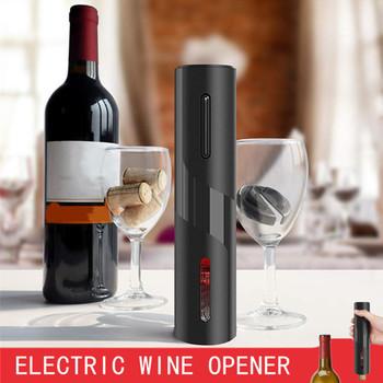 Automatyczny otwieracz do butelek do czerwonego wina aluminiowym nożem elektryczny otwieracz do czerwonego wina otwieracz do słoików akcesoria kuchenne otwieracz do butelek gadżety tanie i dobre opinie CN (pochodzenie) Czerwone wino STAINLESS STEEL