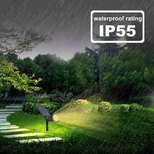 Image 4 - T SUNRISE Waterdichte 7 Leds Zonne energie Light Outdoor Tuin Verlichting Landschap Wandlamp 3000K Warm Wit