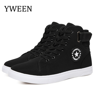 YWEEN Men's Vulcanize Shoes Men Spring Autumn Top Fashion Sneakers Lace-up High Style Solid Colors Man Shoes(China)