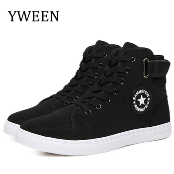YWEEN Men's Vulcanize Shoes Men Spring Autumn Top Fashion Sneakers Lace-up High Style Solid Colors Man Shoes цена 2017