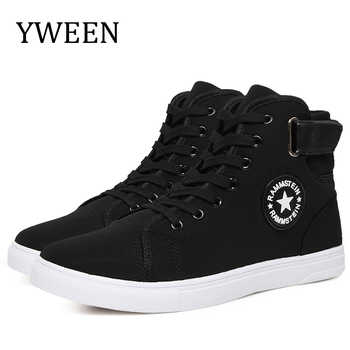 YWEEN Men's Vulcanize Shoes Men Spring Autumn Top Fashion Sneakers Lace-up High Style Solid Colors Man Shoes - DISCOUNT ITEM  45% OFF All Category