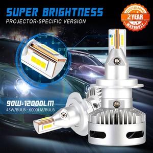 Image 1 - NOVSIGHT Car Projector Headlight H7 Led H7 H11 9005/9006 9012 D5 D2/D4 D1/D3/D8 90W 12000LM 6500K Auto Headlamp Fog Light Bulbs