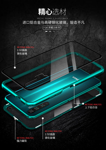 Image 3 - For Huawei P30 Pro Magnetic Case 360 double sided Tempered Glass Case Honor 20 Pro V20 8X Max V10 10 Lite 9X Plus Nova 5 4 4E 3
