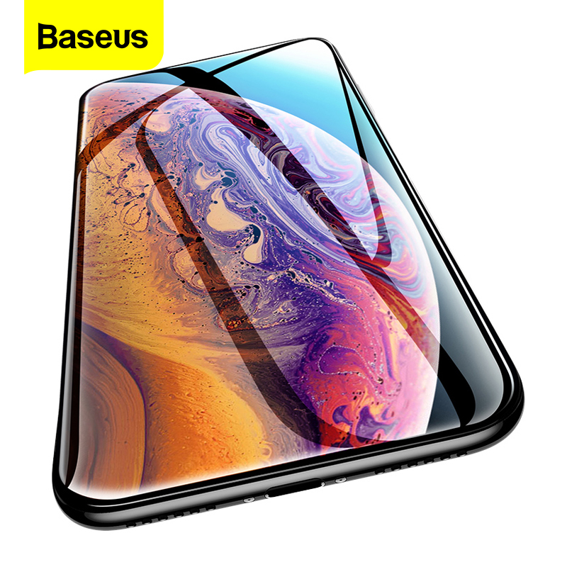 Baseus 0.3mm Screen Protector For iPhone Xs Max Xr X S Xsmax 3D Cover Tempered Glass Protective Glass Film For iPhoneXs iPhoneX(China)