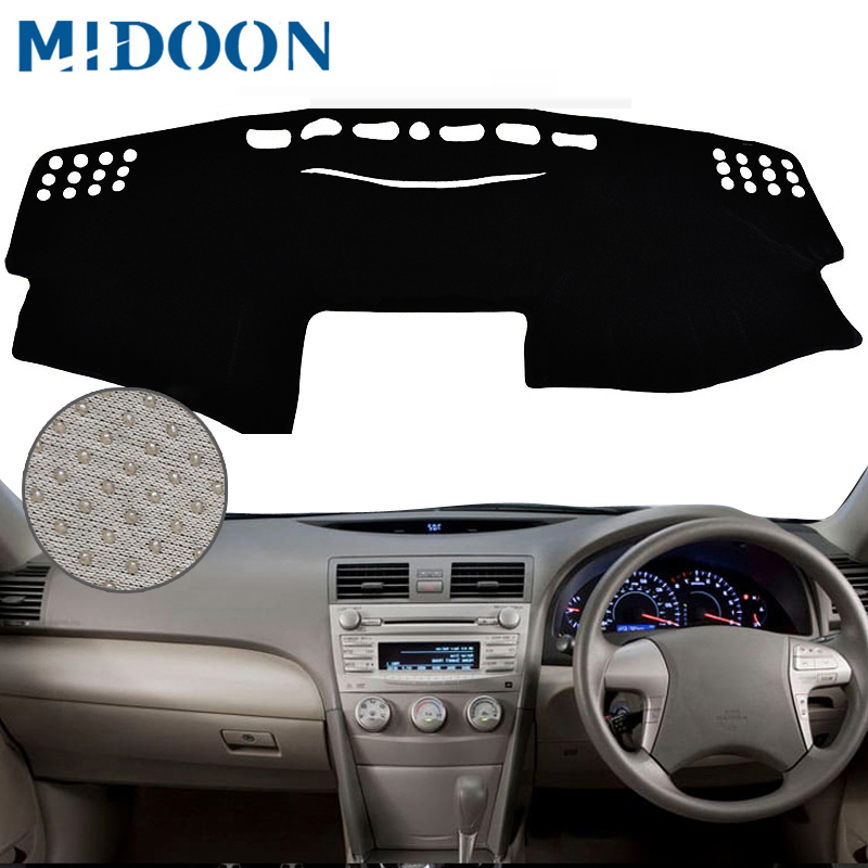 MIDOON RHD For Toyota Camry Board Cover Pad Carpet 2007 2008 2009 2010 2011 Car Dashboard Cover Dash Mat Dash Pad DashMat
