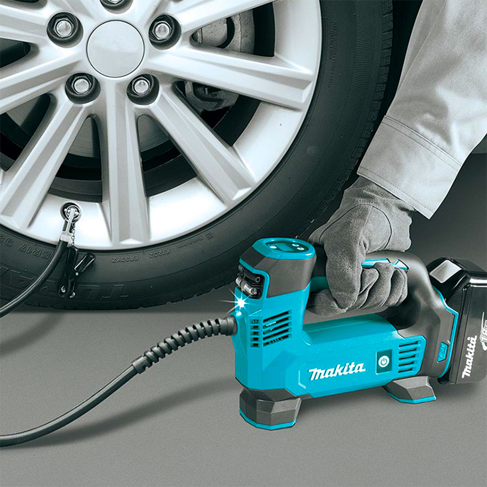Makita Car Tire Cordless Inflator Air Pump DMP180Z Lithium Battery Charging Car 121PSI/830KPa/8.3bar Air Pump Wireless Inflator
