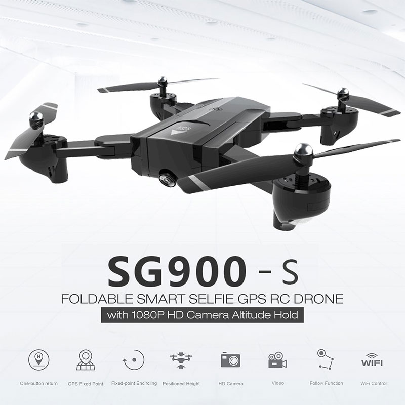 Foldable <font><b>Drone</b></font> GPS Professional Rc helicopter <font><b>Drones</b></font> with Camera HD 1080P Surround Follow FPV Wide Angle Long distance Dron image