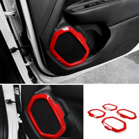 MOPAI Interior Mouldings for Car Door Speaker Decoration Cover Ring Cover Frame Trim for Jeep Renegade 2016+