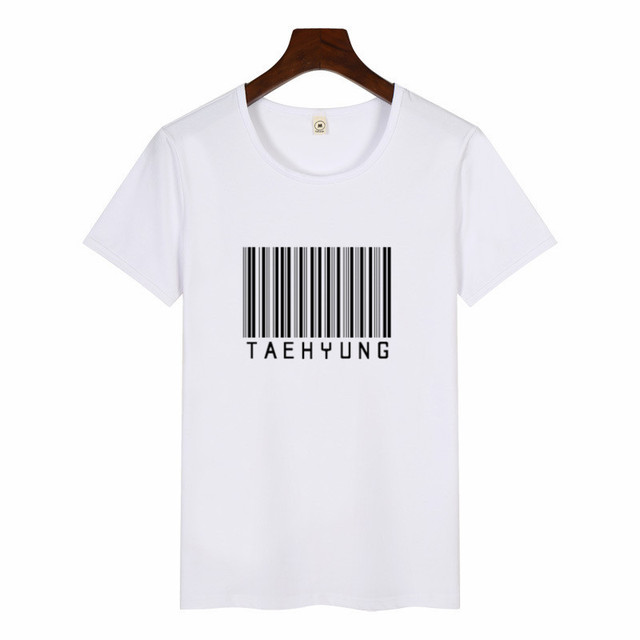 Women S New Kpop Idol Taehyung Letter Pritn T Shirt Women Casual