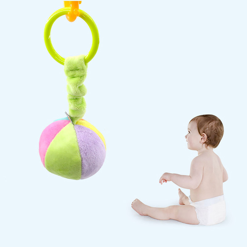 Infant Plush Hand Bell Kids Toy Holder 360 Degree Rotate Arm Bracket Set Baby Stroller Crib Hanging Rattles Toys Giftsfor Baby