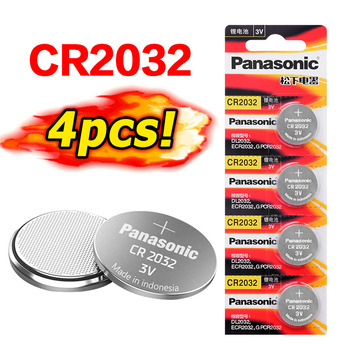 Panasonic Original cr2032 3V Coin Lithium 4pcs/lot cr 2032 Button Cell Batteries Battery For Watch Remote Control Calculator image