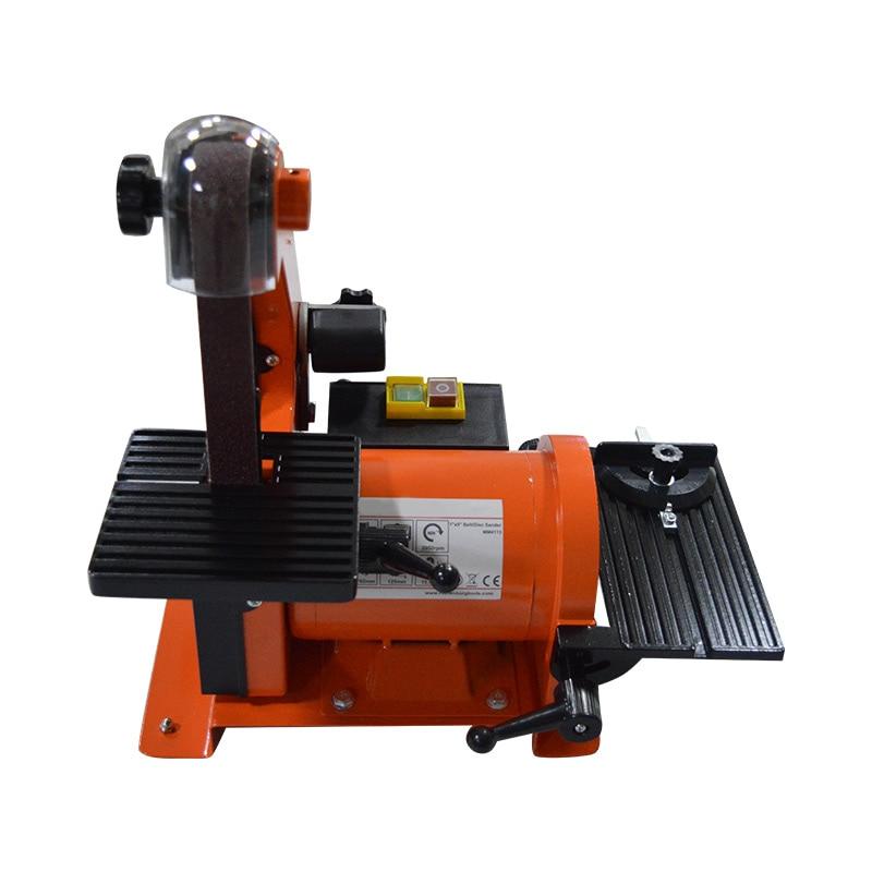 Tools : Table Belt Sander Metal Grinding Polisher Sanding Machine Woodworking Copper Motor Knife Grinder Chamfering Machine Random Color