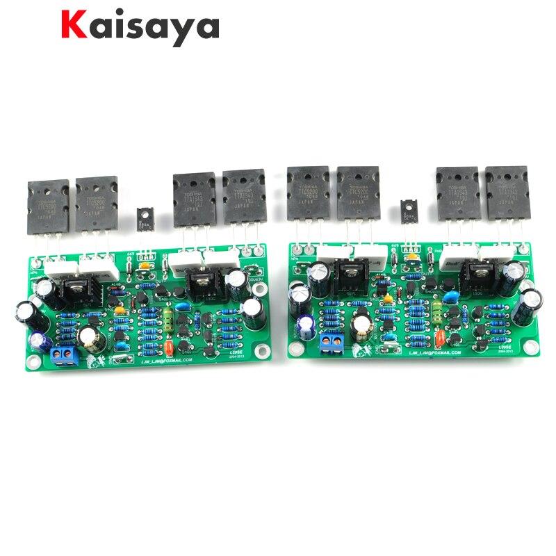 Плата звукового усилителя L20 SE 350W, 2 шт., двухканальный усилитель TOSHIBA A1943 C5200, комплект для сборки и готовая плата