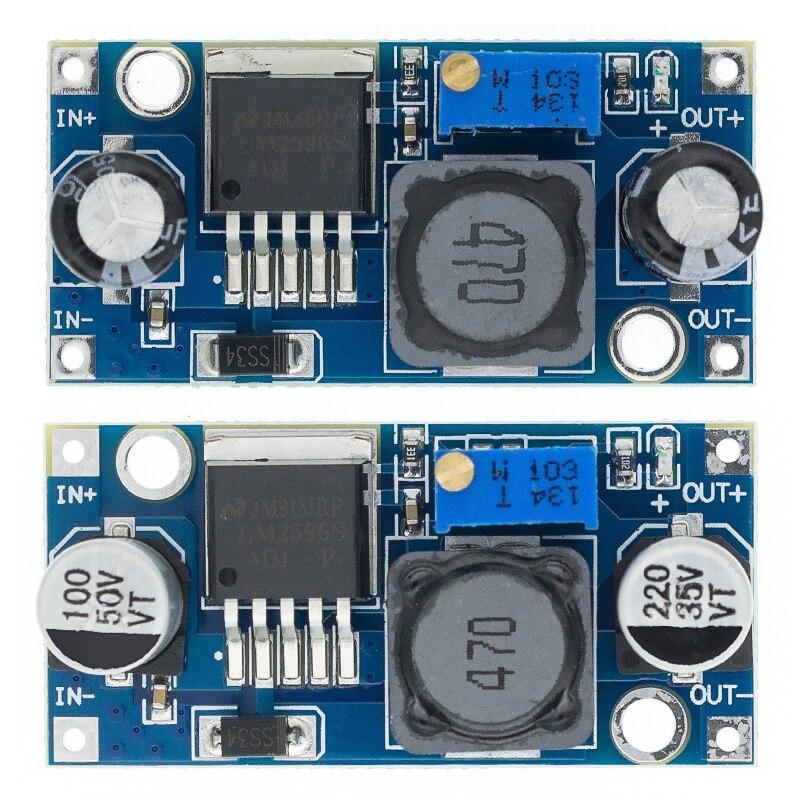 20 pces lm2596 lm2596s adj módulo de fonte de alimentação DC-DC step-down módulo 5 v/12 v/24 v regulador de tensão ajustável 3a tiepian