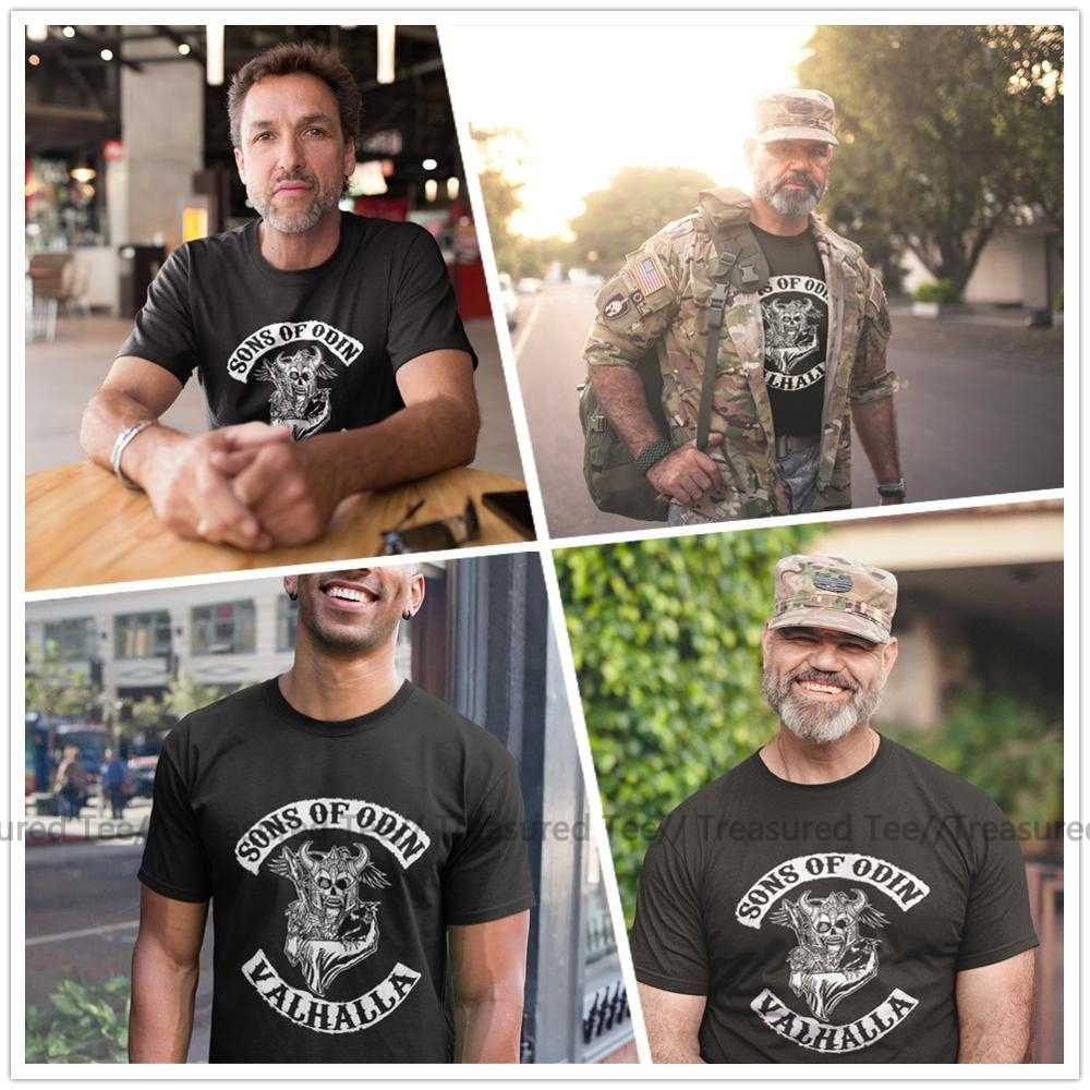 Sons Of Anarchy T Shirt Sons Of Odin Valhalla Chapter T-Shirt Streetwear Awesome Tee Shirt Short-Sleeve Men 100 Cotton Tshirt
