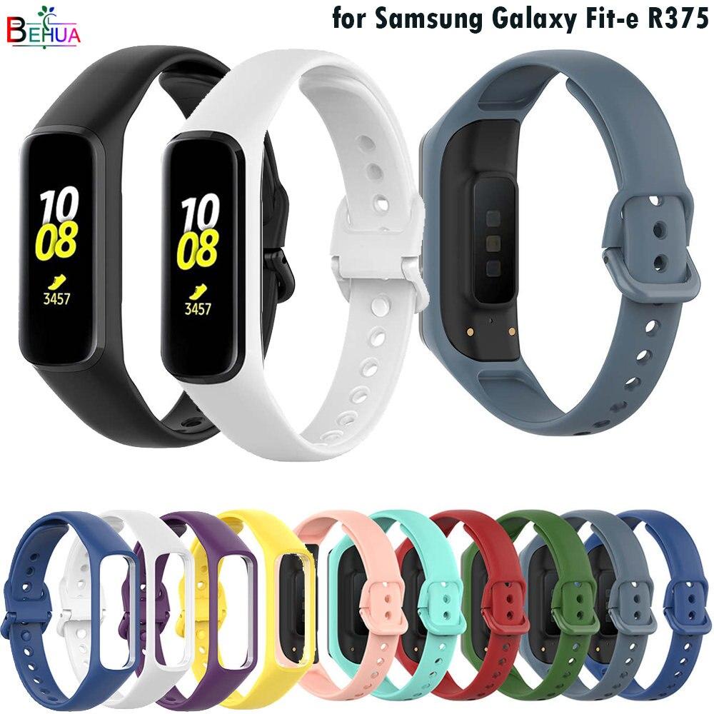 Силиконовый ремешок BEHUA для Samsung Galaxy Fit-e R375, сменный смарт-браслет, спортивный ремешок, аксессуары для браслета