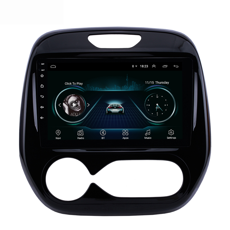 <font><b>2</b></font> <font><b>din</b></font> <font><b>Android</b></font> Car Multimedia Auto <font><b>Radio</b></font> For Renault Captur CLIO 2011 2014 2015 2016 2017 2018 Samsung QM3 Manual A/C <font><b>GPS</b></font> image