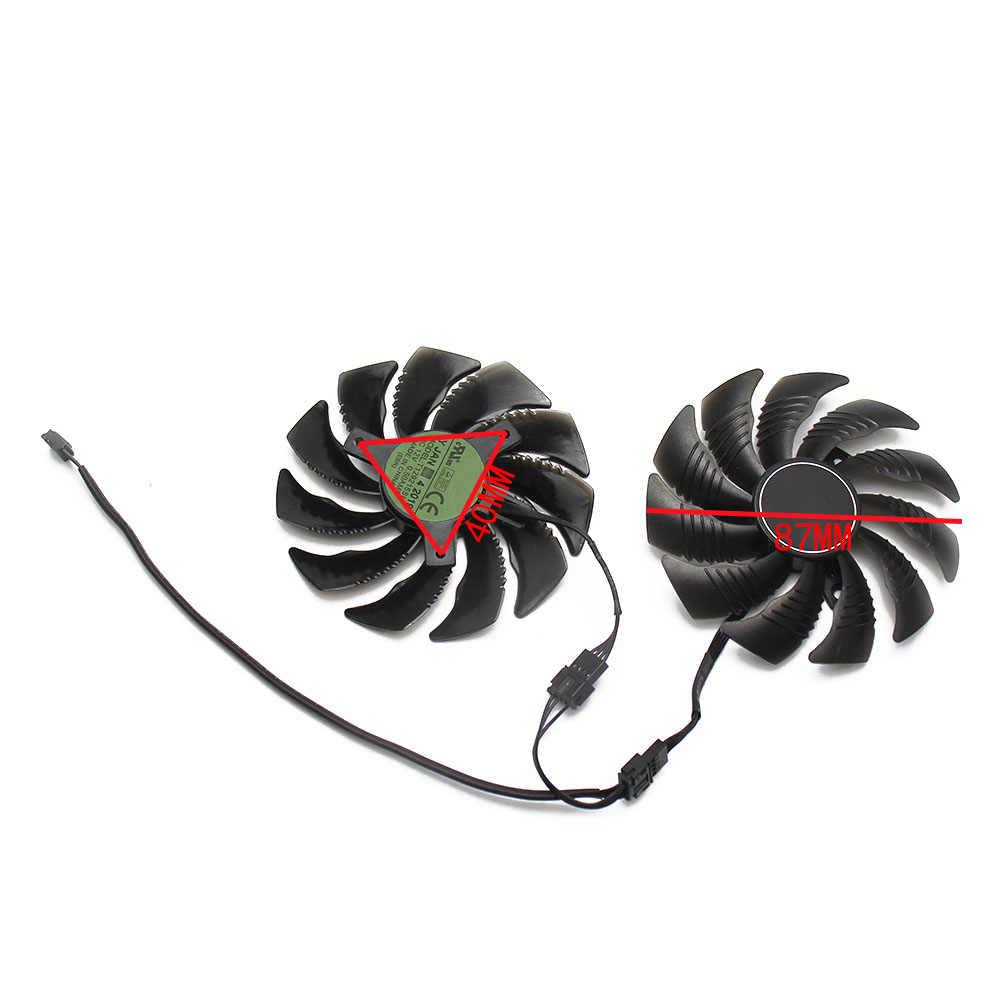 87 Mm T129215SU PLD09210S12HH 4Pin GTX1660 GTX1660Ti Kipas Pendingin untuk Gigabyte GTX 1660 1660Ti Kartu Grafis Cooler Fan