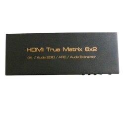 4K x 2K Hdmi 6X2 3D Hdtv Hd Wahre Matrix 2,0 Hdmi Switch Splitter Unterstützung Mit ir Arc Spdif 3,5 Mm 6 In 2 Out Hdmi Audio Extractor (E
