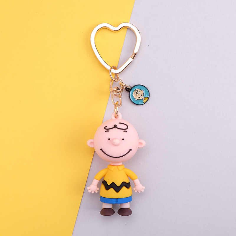 2019 Nova Bonito Dos Desenhos Animados do Charlie Brown Keychain Para Meninas Chaveiro Anime Presentes da corrente Chave Do Carro Ou na Mala Ou Homens Chave mulheres da cadeia de Chaveiro