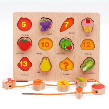 3D buk koraliki zabawki drut Puzzle układanki dzieci drewniane zabawki edukacyjne-owoce i warzywa sztuka i rzemiosło zabawki DIY tanie i dobre opinie surwish 2 ~ 4 Lat 5 ~ 7 Lat 8 ~ 13 Lat Chiny certyfikat (3C) Rainbow papieru 2520778 none Zwierzęta i Natura